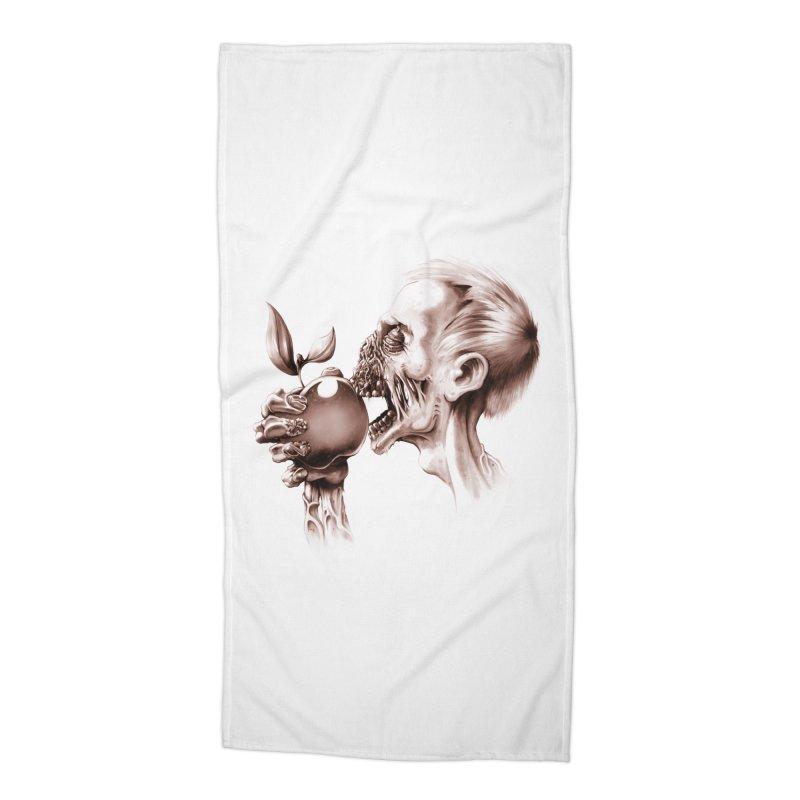 Vegetarian Zombie Accessories Beach Towel by ramos's Artist Shop