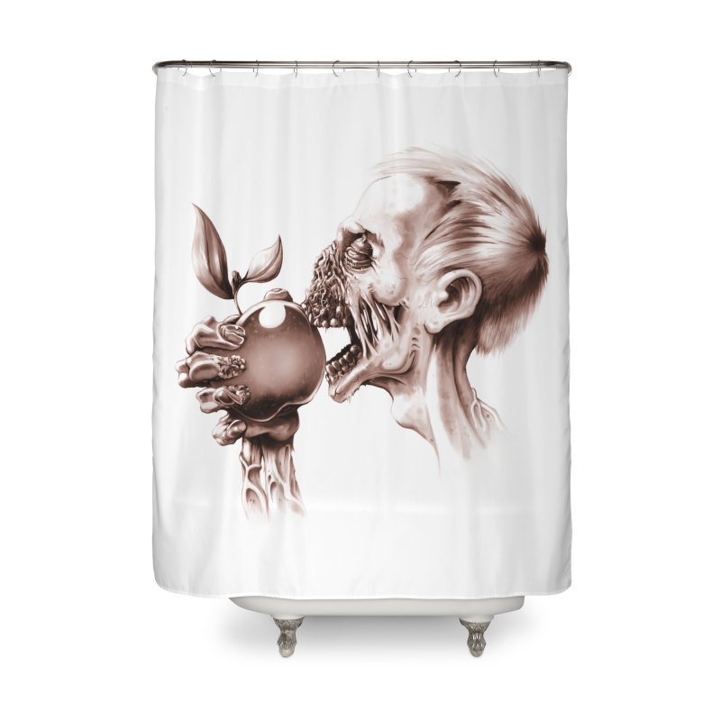 Vegetarian Zombie Home Shower Curtain by ramos's Artist Shop