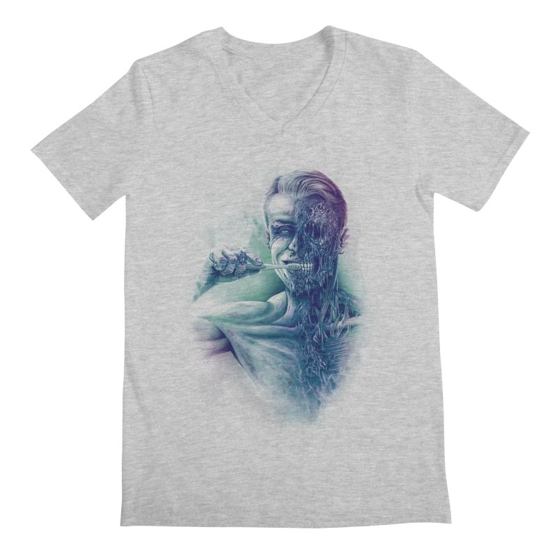 Hygienic Zombie Men's V-Neck by ramos's Artist Shop