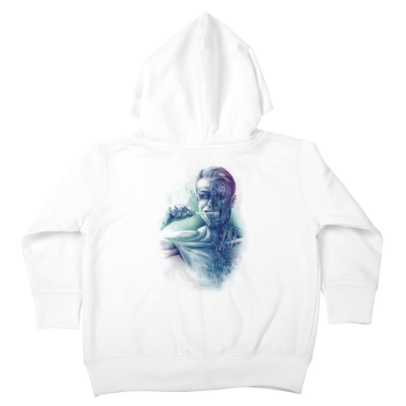 Hygienic Zombie Kids Toddler Zip-Up Hoody by ramos's Artist Shop