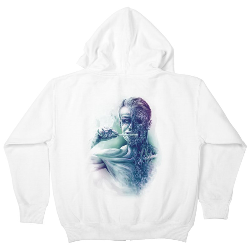 Hygienic Zombie Kids Zip-Up Hoody by ramos's Artist Shop