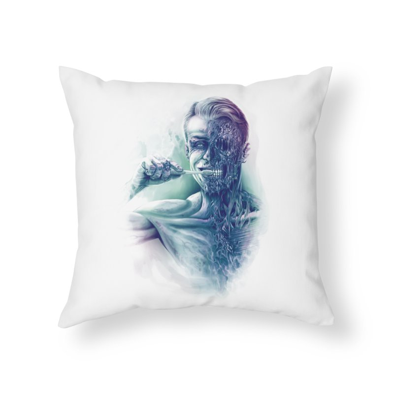 Hygienic Zombie Home Throw Pillow by ramos's Artist Shop