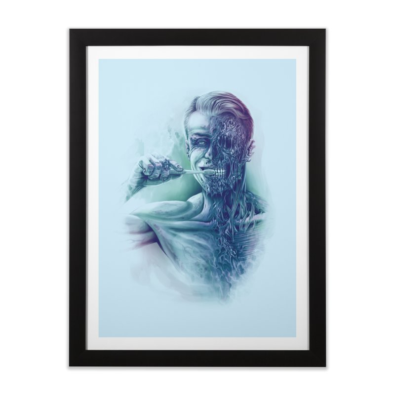 Hygienic Zombie Home Framed Fine Art Print by ramos's Artist Shop