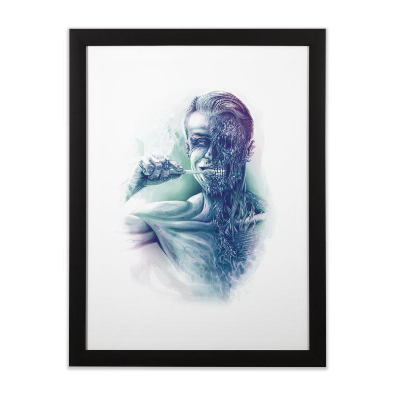 Hygienic Zombie Home Framed Fine Art Print by ramos's Artist Shop