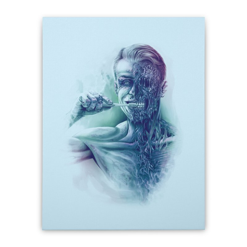 Hygienic Zombie Home Stretched Canvas by ramos's Artist Shop