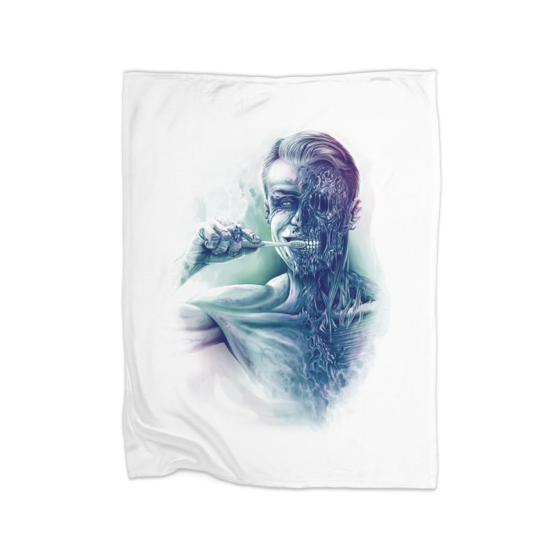 Hygienic Zombie Home Blanket by ramos's Artist Shop
