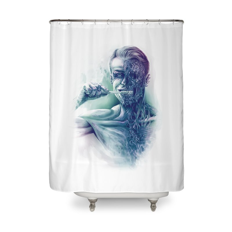 Hygienic Zombie Home Shower Curtain by ramos's Artist Shop