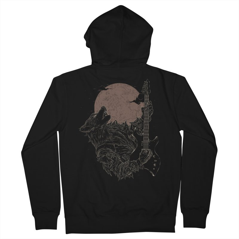 The Rock Werewolf Men's French Terry Zip-Up Hoody by ramos's Artist Shop