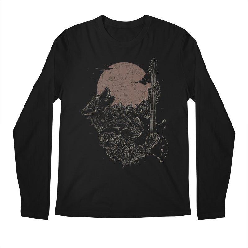 The Rock Werewolf Men's Regular Longsleeve T-Shirt by ramos's Artist Shop