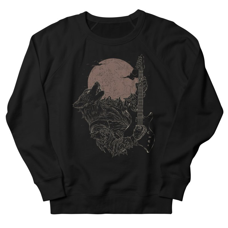 The Rock Werewolf Women's French Terry Sweatshirt by ramos's Artist Shop