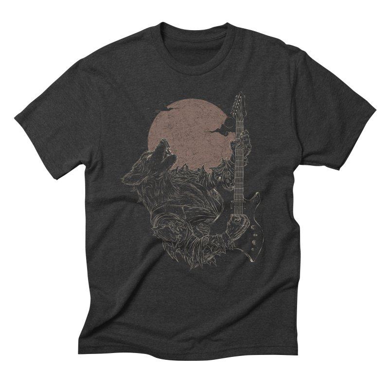 The Rock Werewolf Men's Triblend T-Shirt by ramos's Artist Shop
