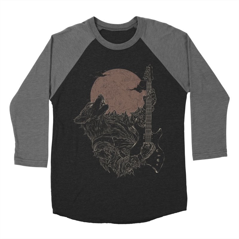 The Rock Werewolf Men's Baseball Triblend T-Shirt by ramos's Artist Shop
