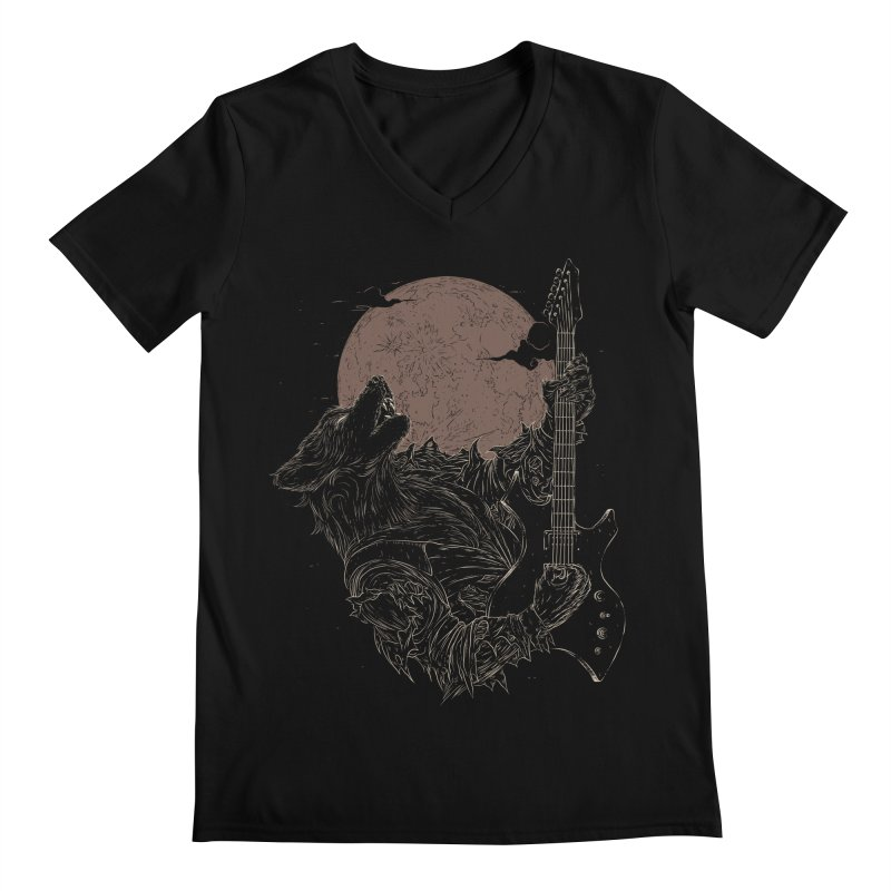 The Rock Werewolf Men's V-Neck by ramos's Artist Shop
