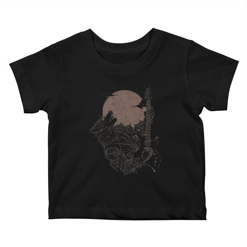 The Rock Werewolf Kids Baby T-Shirt by ramos's Artist Shop