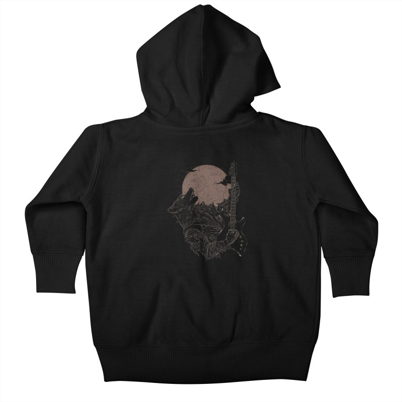 The Rock Werewolf Kids Baby Zip-Up Hoody by ramos's Artist Shop
