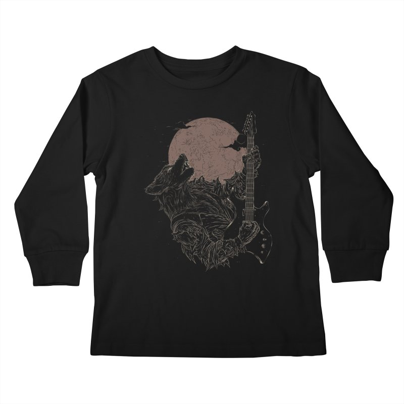 The Rock Werewolf Kids Longsleeve T-Shirt by ramos's Artist Shop