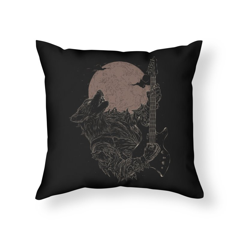 The Rock Werewolf Home Throw Pillow by ramos's Artist Shop