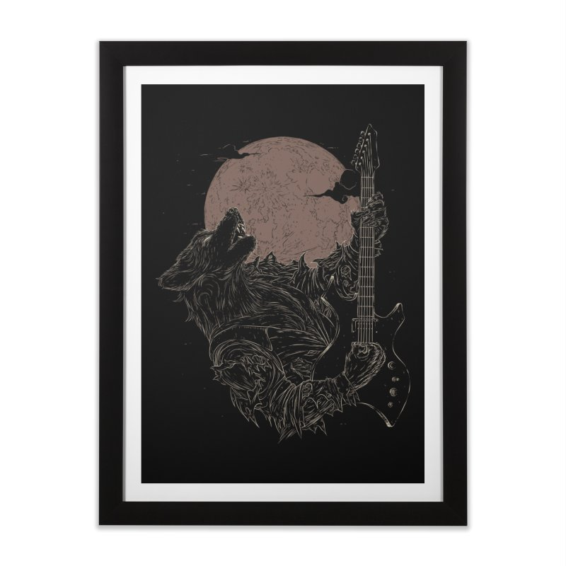 The Rock Werewolf Home Framed Fine Art Print by ramos's Artist Shop