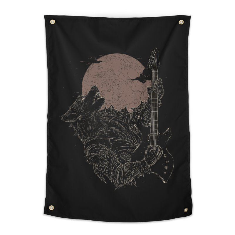 The Rock Werewolf Home Tapestry by ramos's Artist Shop