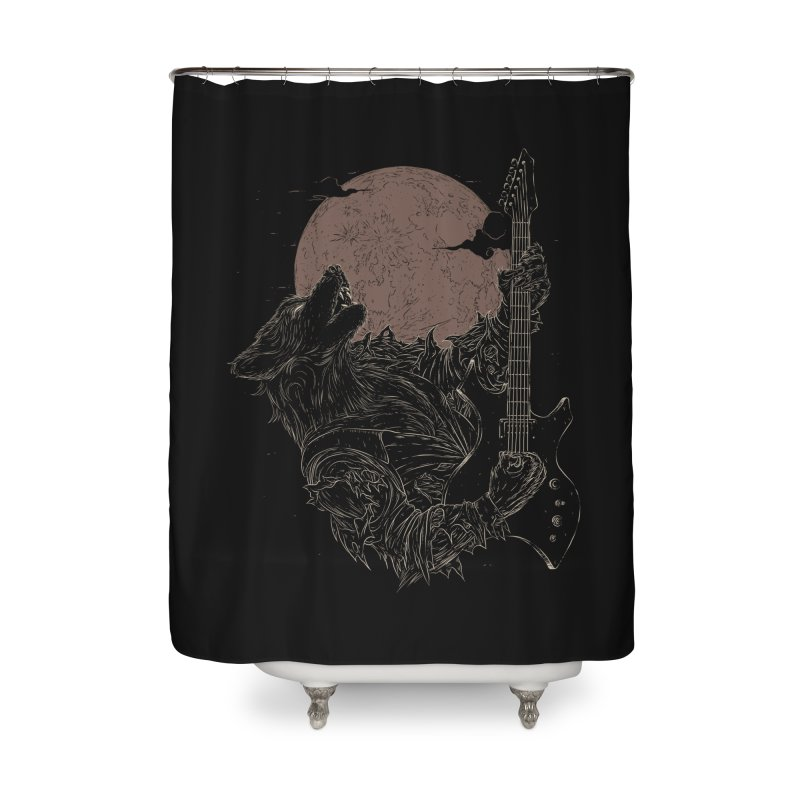 The Rock Werewolf Home Shower Curtain by ramos's Artist Shop