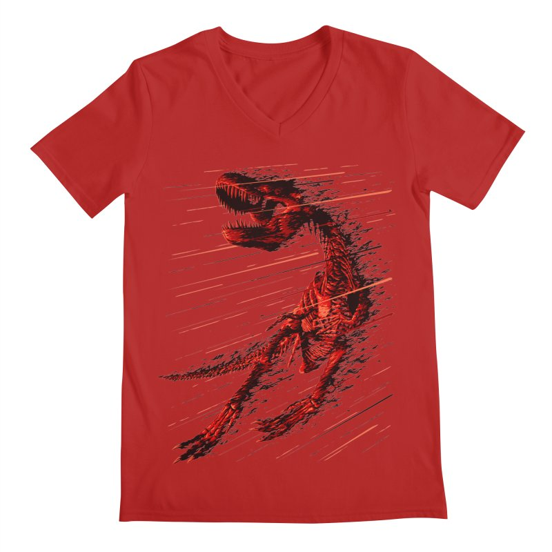 Extinction of a T Rex Men's V-Neck by ramos's Artist Shop