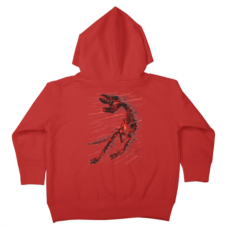 Extinction of a T Rex Kids Toddler Zip-Up Hoody by ramos's Artist Shop