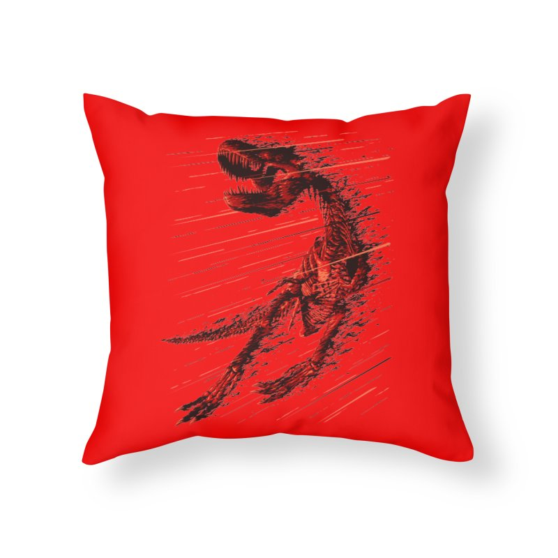 Extinction of a T Rex Home Throw Pillow by ramos's Artist Shop