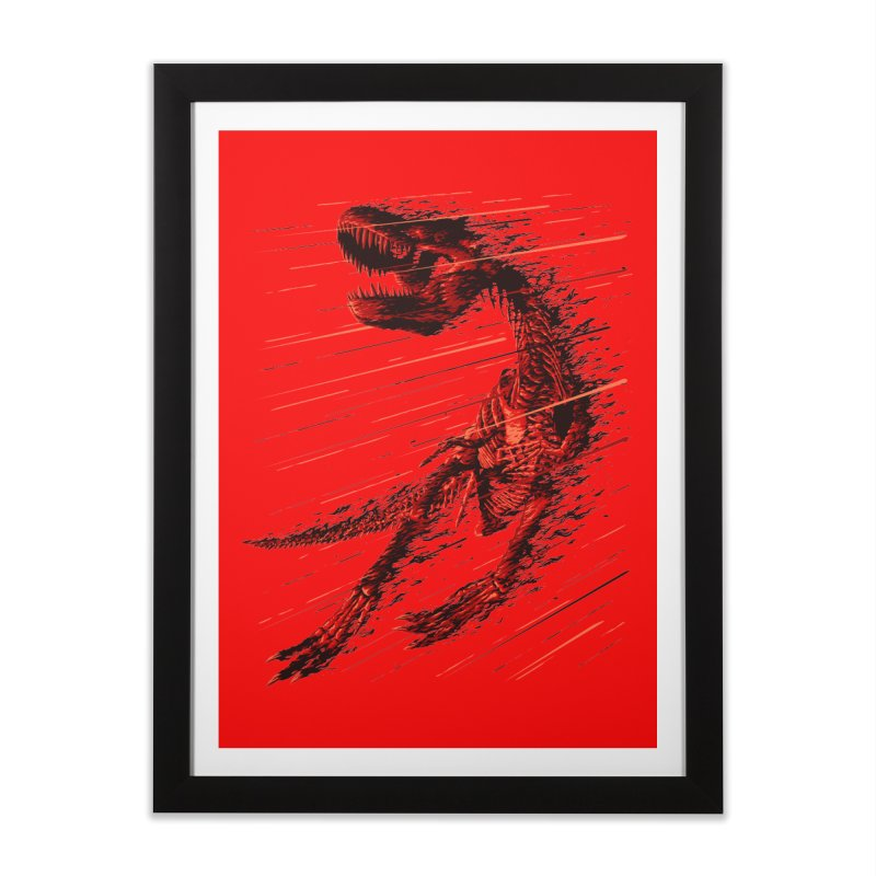 Extinction of a T Rex Home Framed Fine Art Print by ramos's Artist Shop