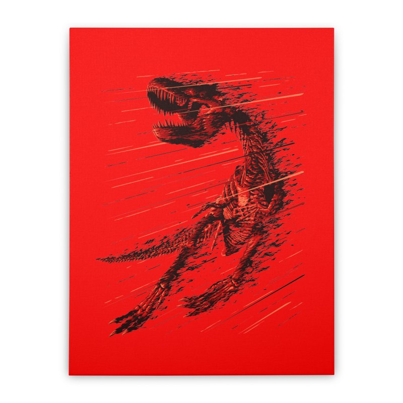 Extinction of a T Rex Home Stretched Canvas by ramos's Artist Shop