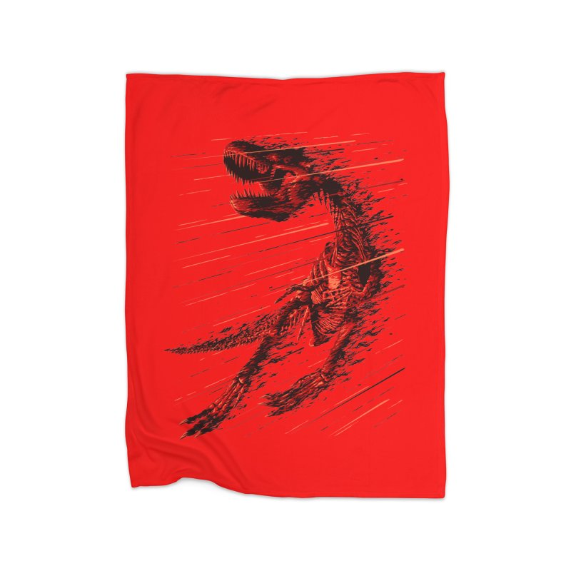 Extinction of a T Rex Home Blanket by ramos's Artist Shop