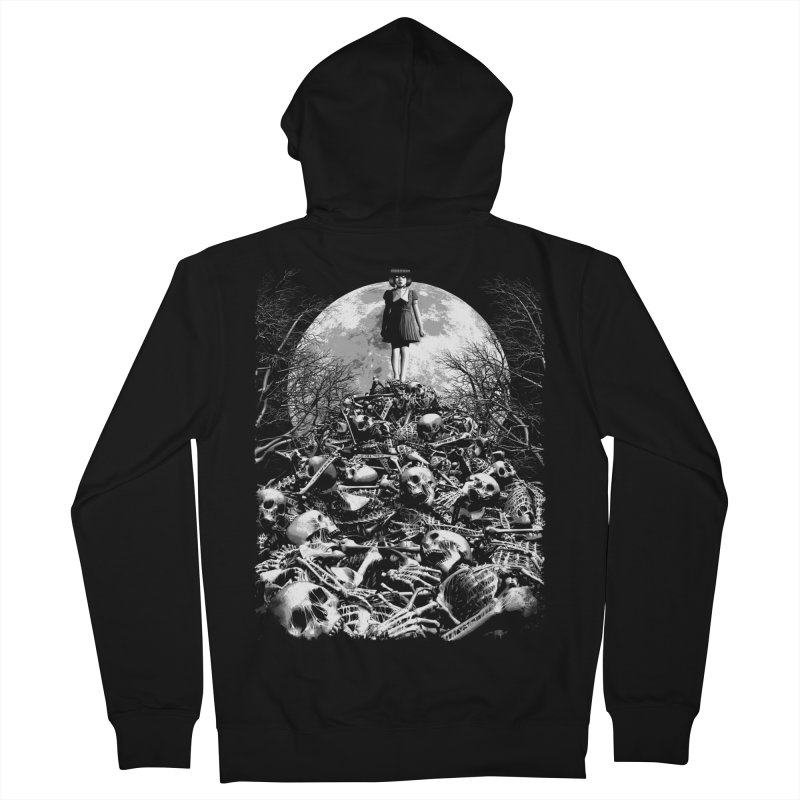Mountain of Bones Women's French Terry Zip-Up Hoody by ramos's Artist Shop