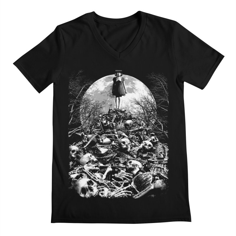 Mountain of Bones Men's V-Neck by ramos's Artist Shop