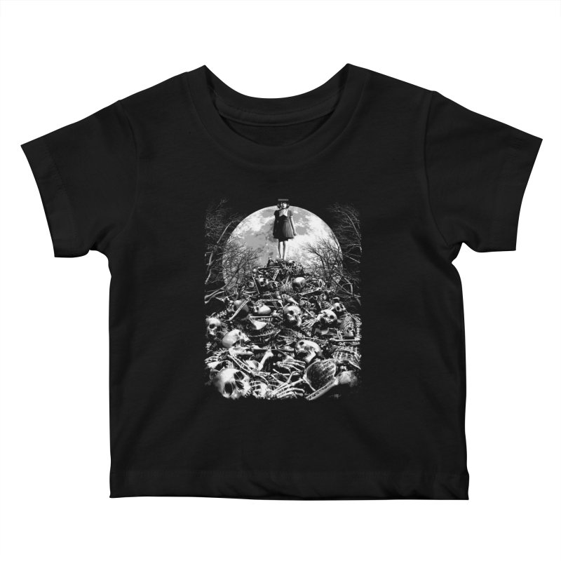 Mountain of Bones Kids Baby T-Shirt by ramos's Artist Shop