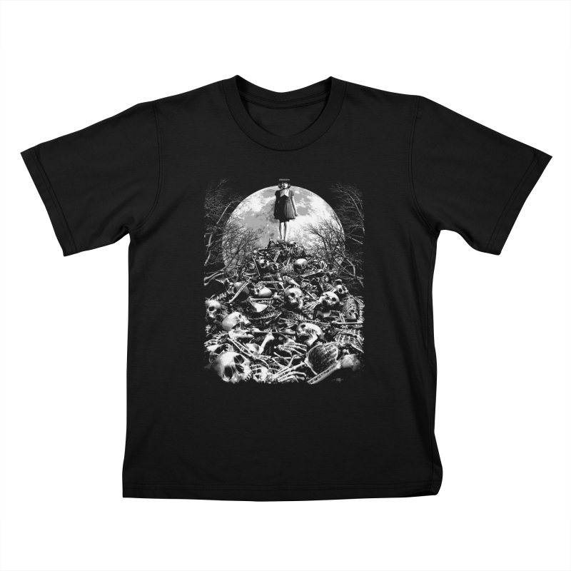 Mountain of Bones Kids T-shirt by ramos's Artist Shop