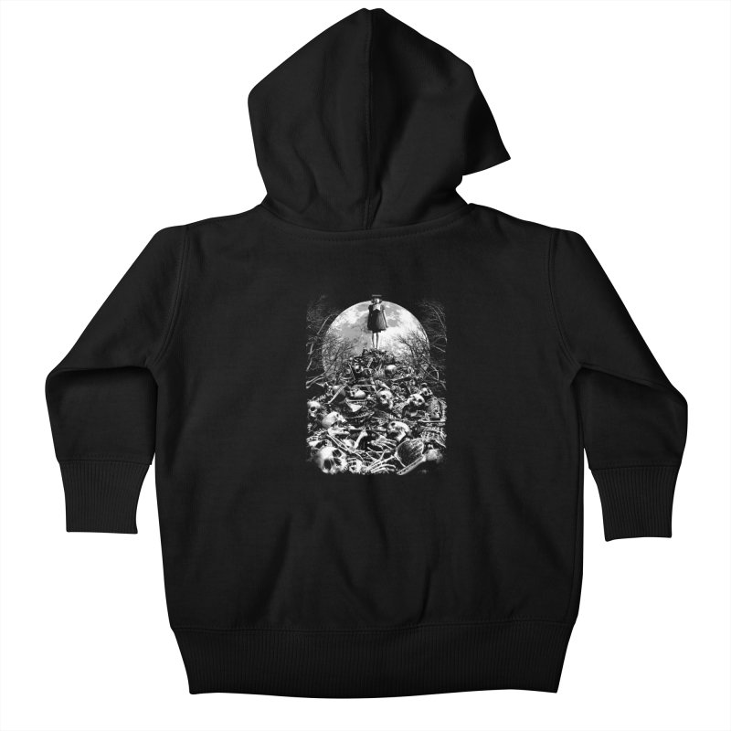 Mountain of Bones Kids Baby Zip-Up Hoody by ramos's Artist Shop