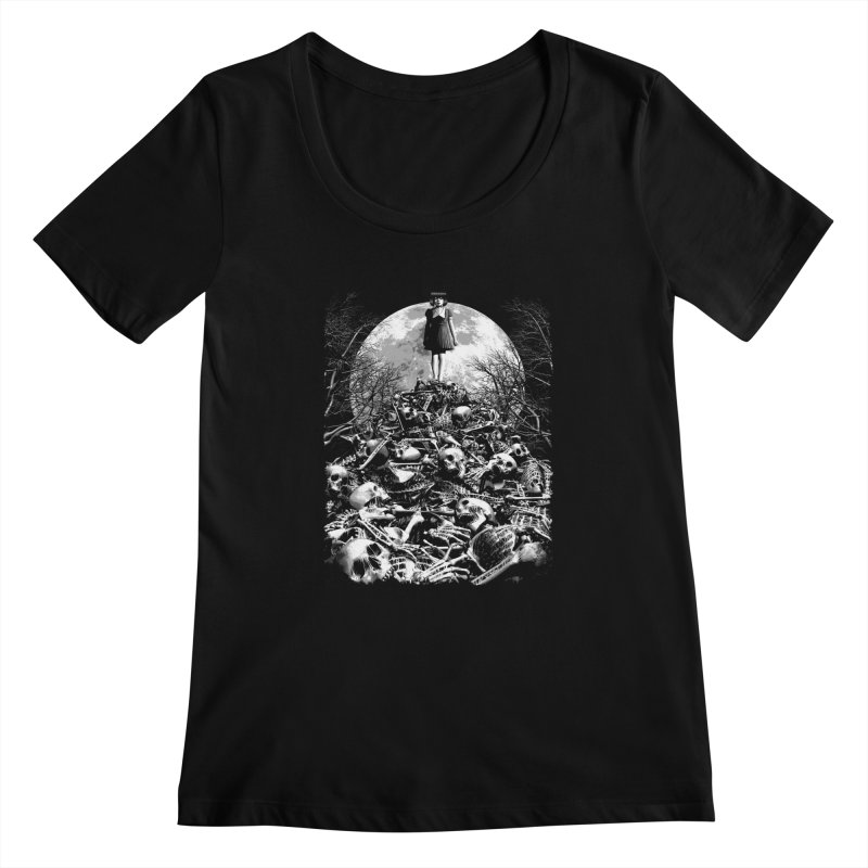 Mountain of Bones Women's Scoopneck by ramos's Artist Shop