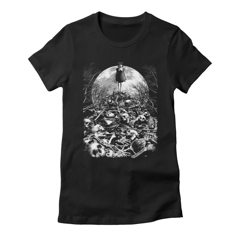 Mountain of Bones Women's Fitted T-Shirt by ramos's Artist Shop