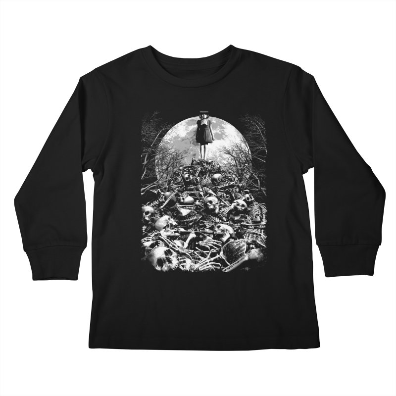 Mountain of Bones Kids Longsleeve T-Shirt by ramos's Artist Shop