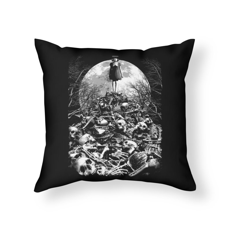 Mountain of Bones Home Throw Pillow by ramos's Artist Shop