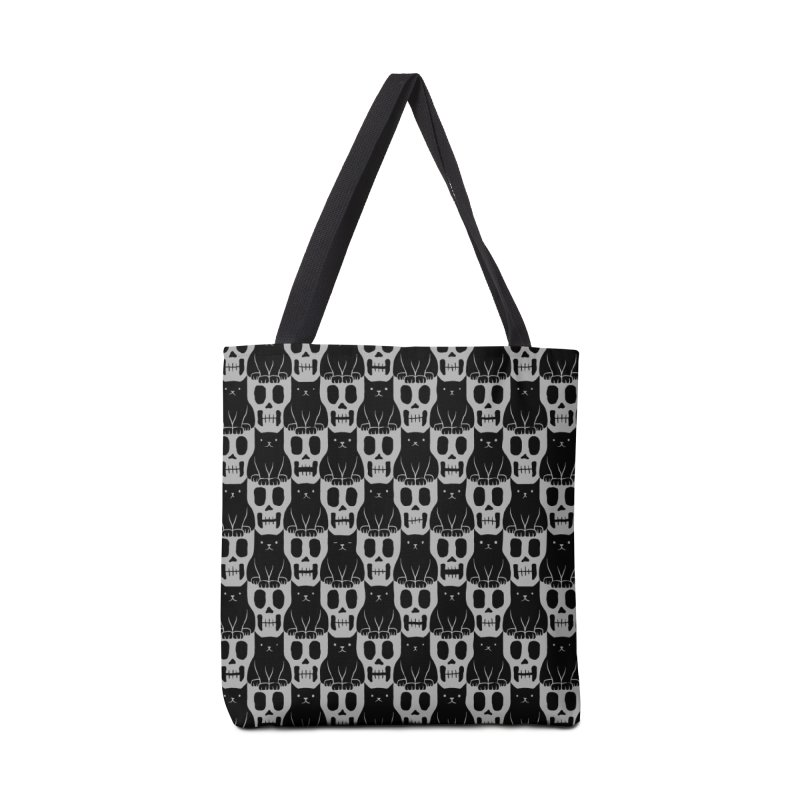 Skulls & Cats Accessories Bag by ramos's Artist Shop