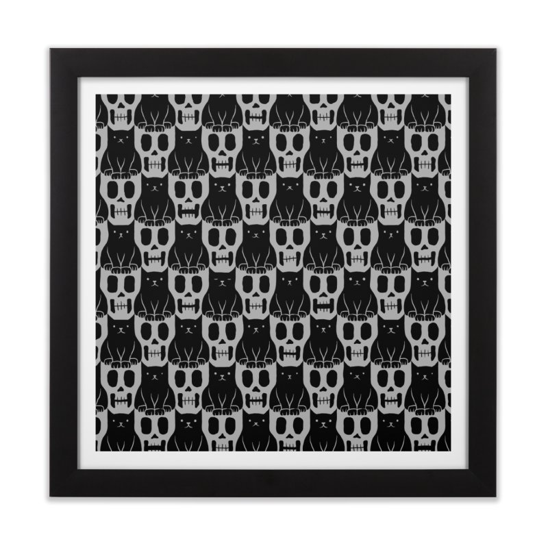 Skulls & Cats Home Framed Fine Art Print by ramos's Artist Shop