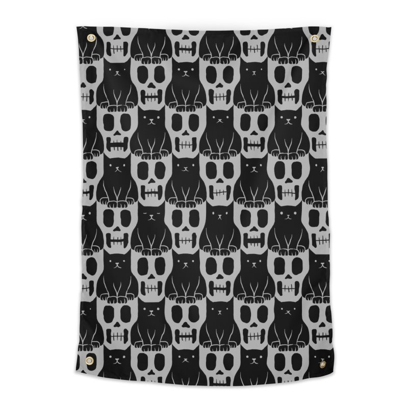 Skulls & Cats Home Tapestry by ramos's Artist Shop