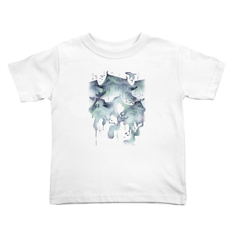 Underwater Temple Kids Toddler T-Shirt by ramos's Artist Shop