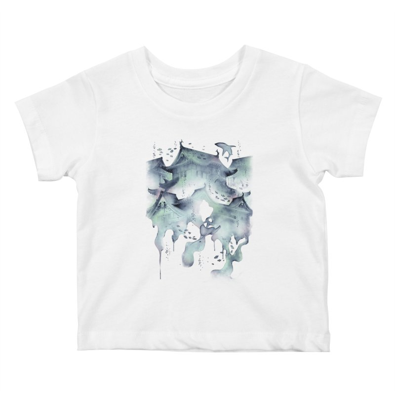 Underwater Temple Kids Baby T-Shirt by ramos's Artist Shop