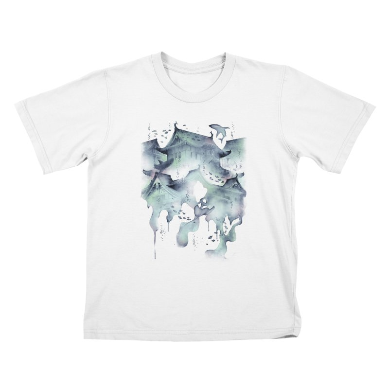 Underwater Temple Kids T-Shirt by ramos's Artist Shop