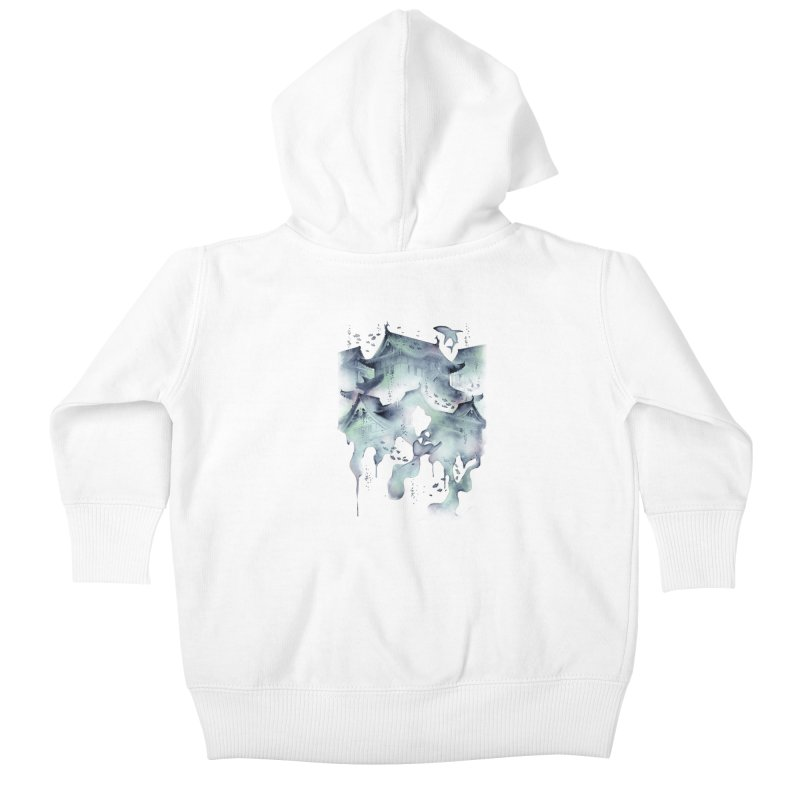 Underwater Temple Kids Baby Zip-Up Hoody by ramos's Artist Shop