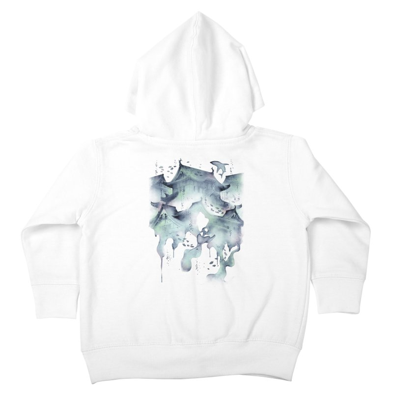 Underwater Temple Kids Toddler Zip-Up Hoody by ramos's Artist Shop