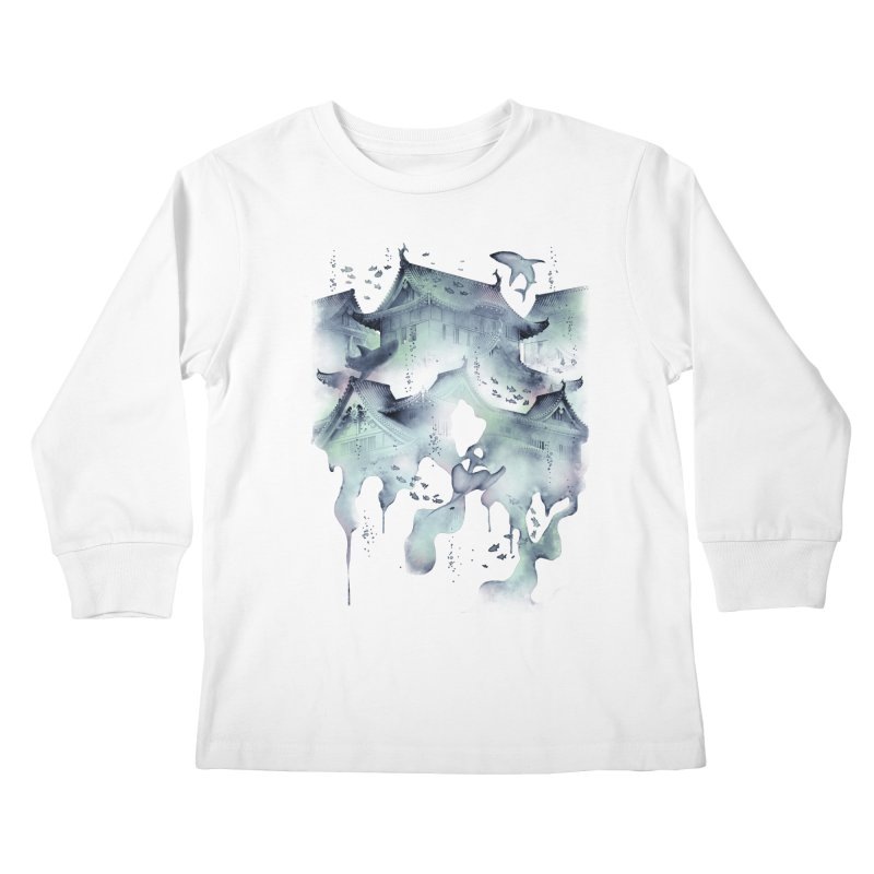 Underwater Temple Kids Longsleeve T-Shirt by ramos's Artist Shop