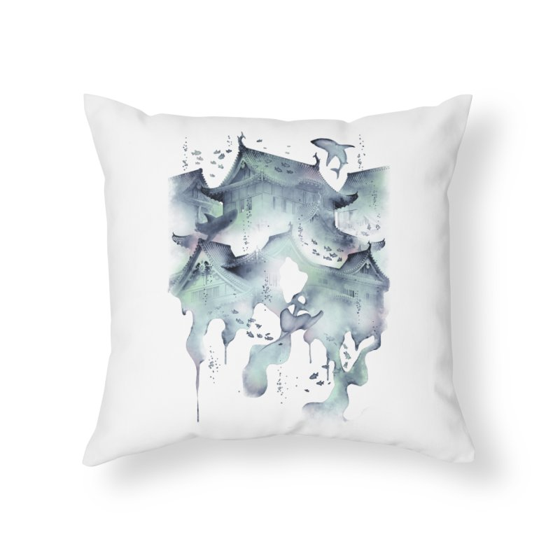 Underwater Temple Home Throw Pillow by ramos's Artist Shop