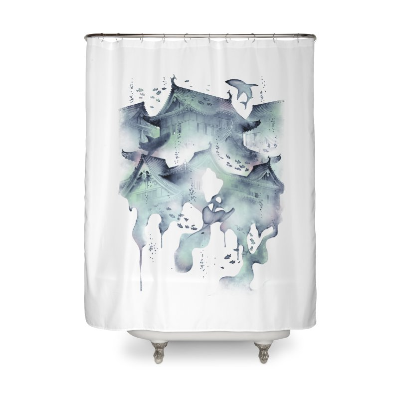 Underwater Temple Home Shower Curtain by ramos's Artist Shop